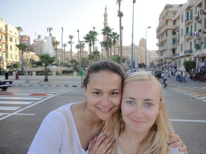 Мы с Ксюхой в Египте